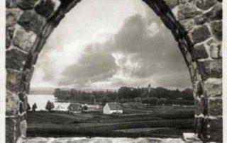 Widok z pomnika wojennego w Olecku.