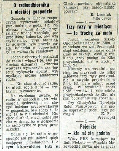 Gazeta Białostocka o Olecku