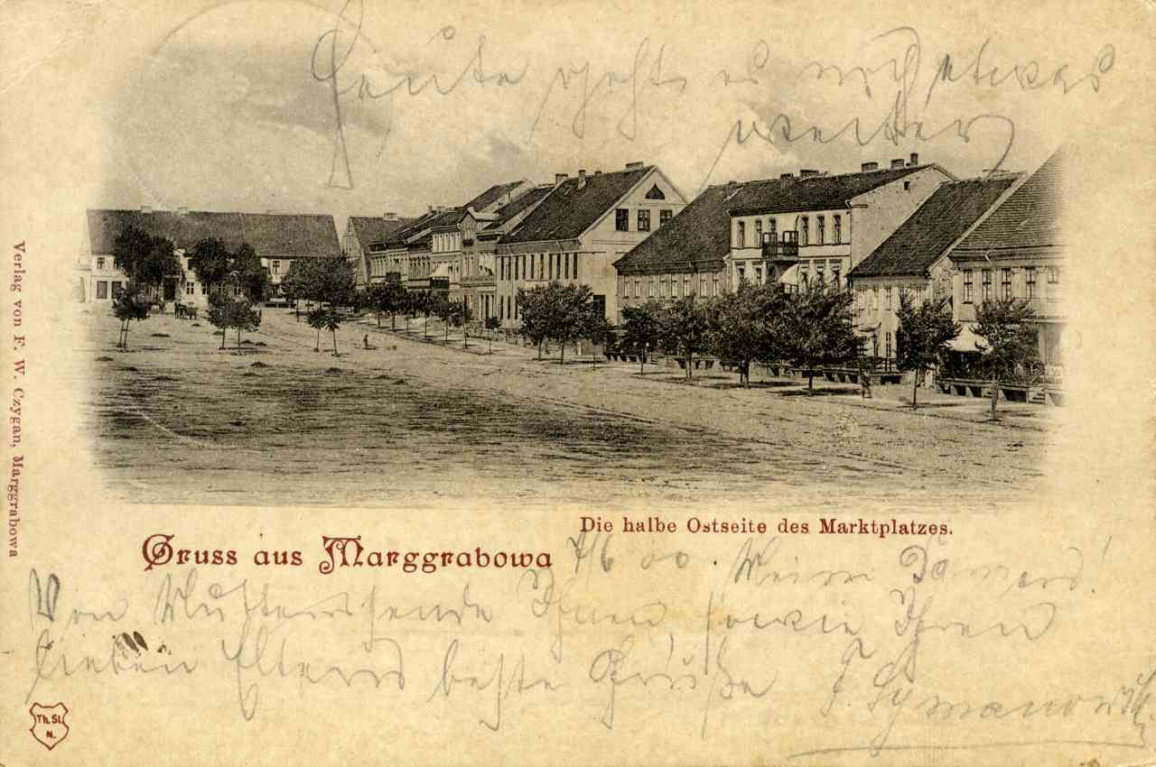 Bardzo stara pocztówka z Olecka.