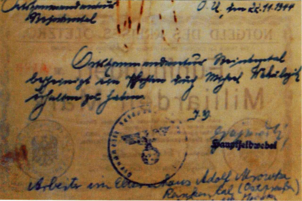 Odwrocie zdjęciowej reprodukcji jednostronnego banknotu o nominale 500 miliardów marek. Ze zbiorów Zdzisława Bereśniewicza.