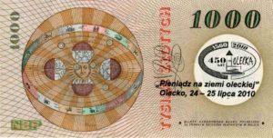Banknot z podpisem prezydenta.