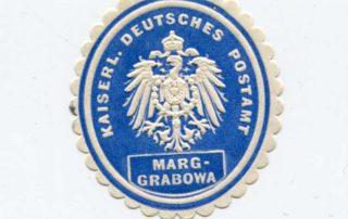 Zalepka pocztowa z Olecka.