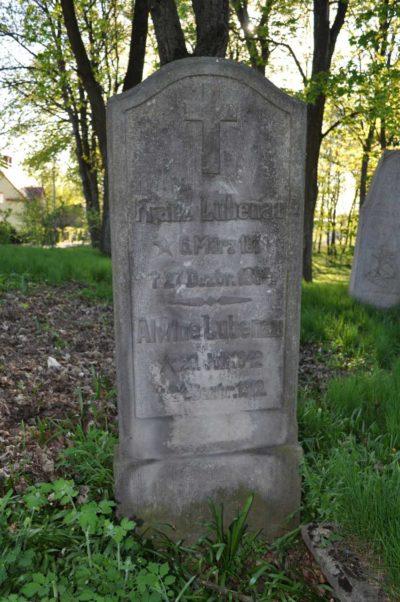 Pomnik nagrobny Franz Lubenau.