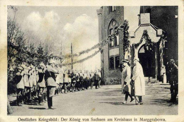 Król Saksonii w Olecku.