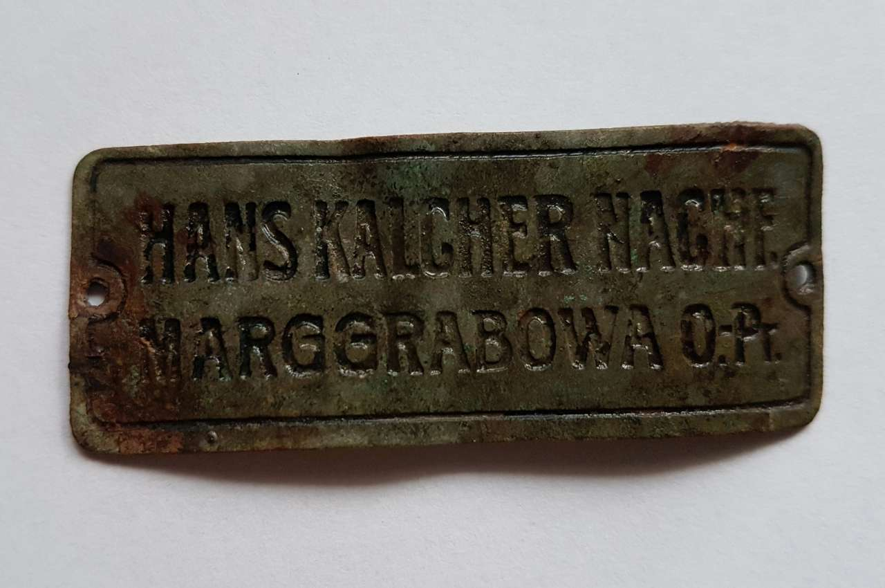 Tabliczka Hans Kalcher Nachf