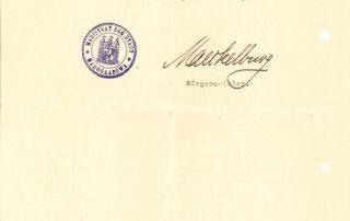 Pismo adresowane do Hermanna von Eichhorna.
