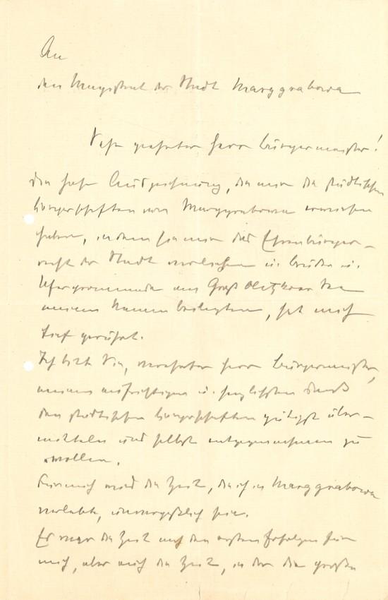 Szkic odpowiedzi Hermanna von Eichhorna.