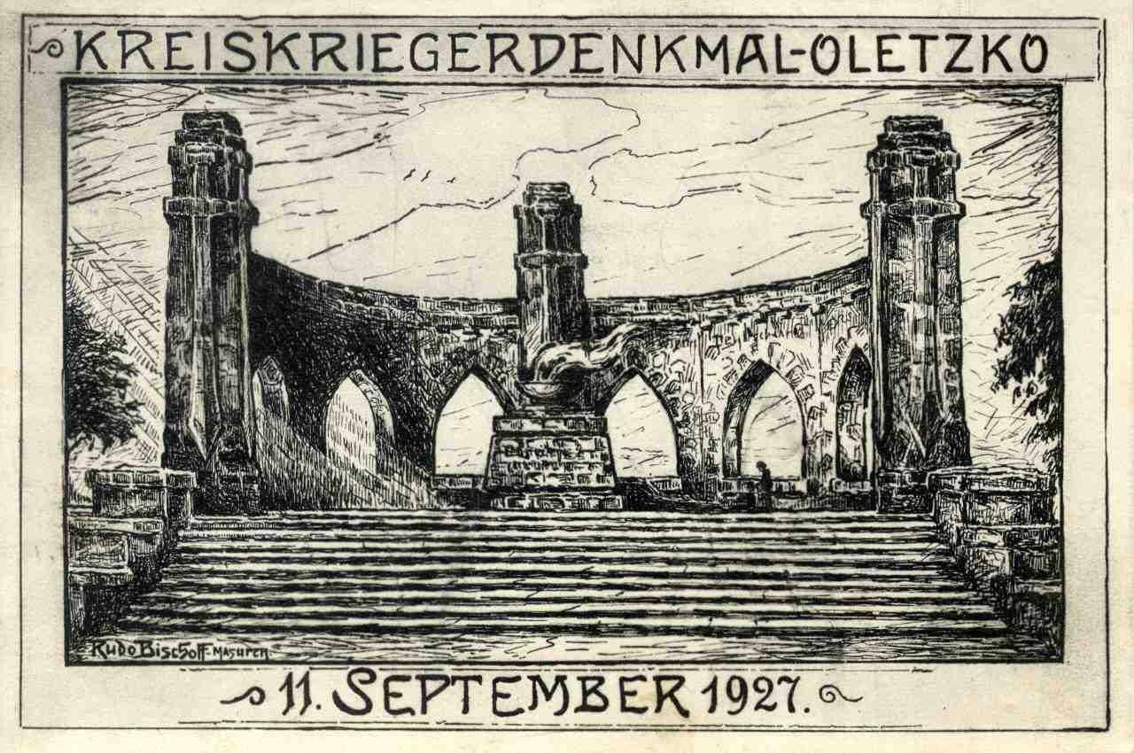 Pomnik wojenny na rycinie.