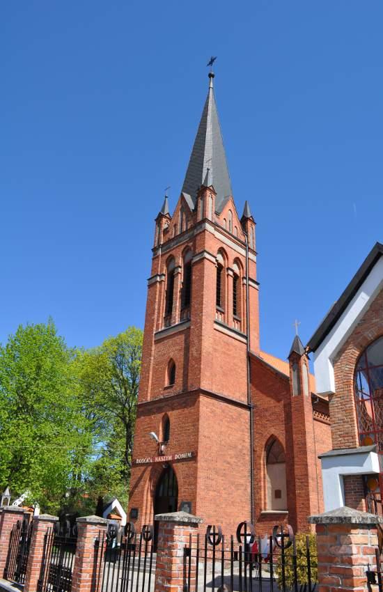 Kościół katolicki wzniesiony w stylu neogotyckim na przełomie lat 50-tych i 60-tych XIX w.